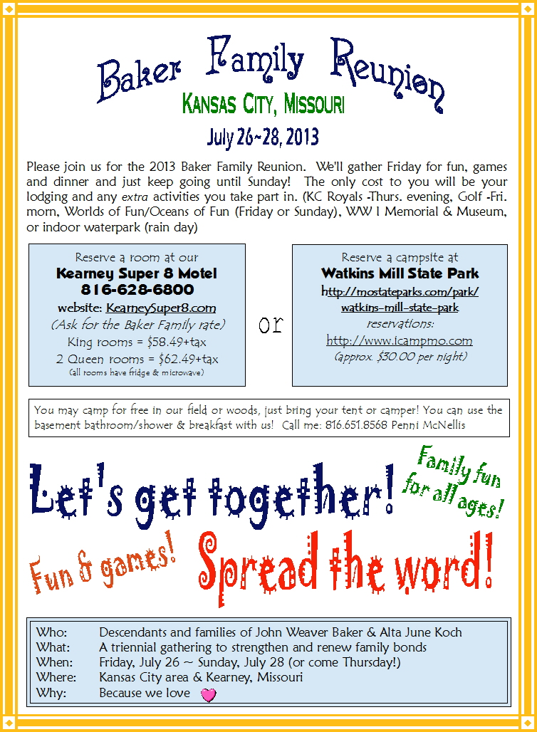 Family Reunion Flyer. Family Reunion Flyer Save the Date Tree of ...