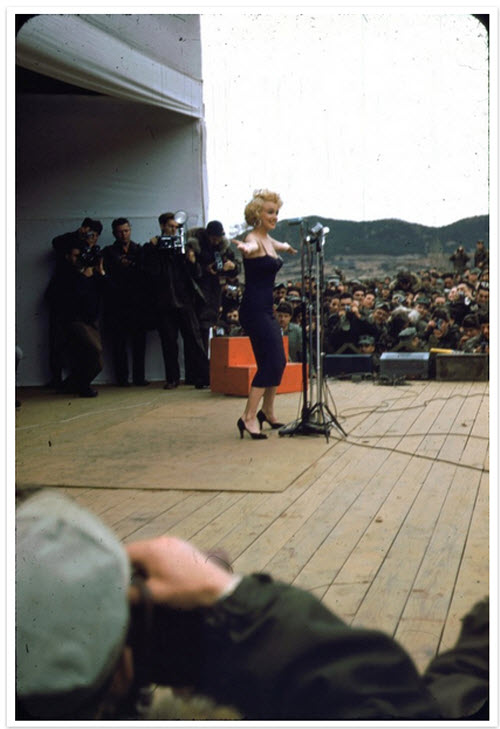 Marilyn Monroe with the Marines in Korea (1954)