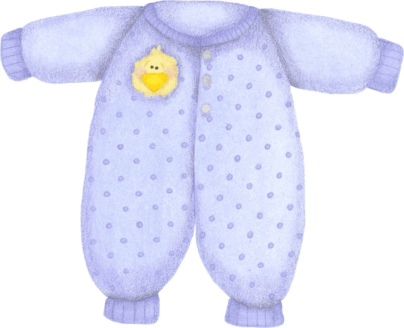Ropita azul de bebe para imprimir