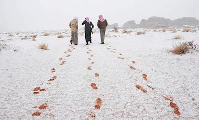 Turun Salju di Jazirah Arab Pertanda Kiamat Sudah Dekat?
