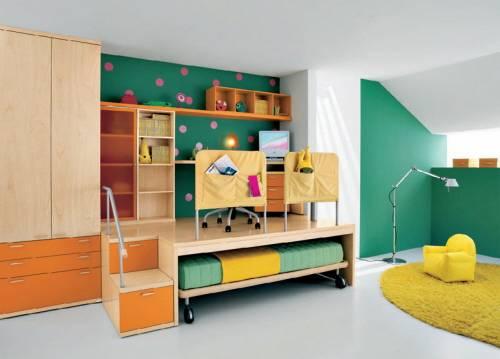 Functional kids boys bedroom storages furniture decor ideas