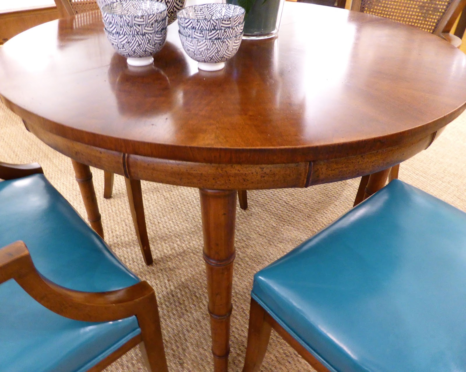Henredon Faux Bamboo Dining Table. Anytime We See An Original Box With A  Piece Of Furniture That Is Over Fifty Years Old, It Is A Definite Kick.