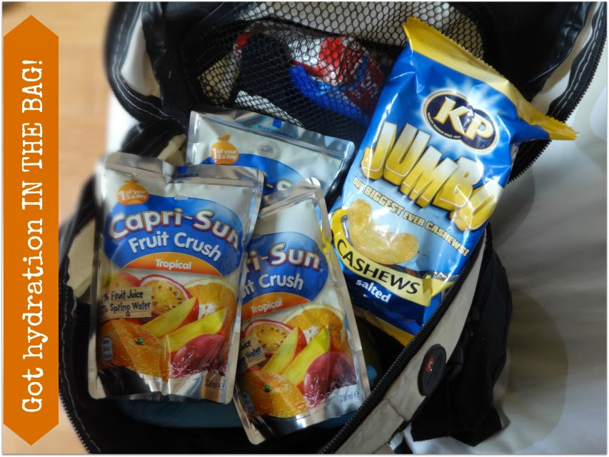 Capri-sun three of them in the bag for soft play