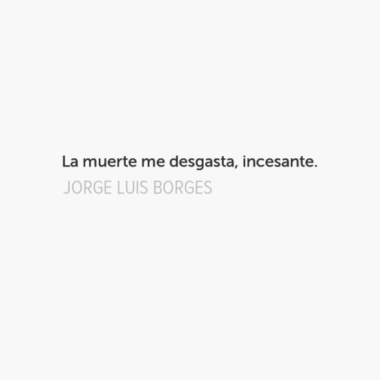 Borges habla de la muerte