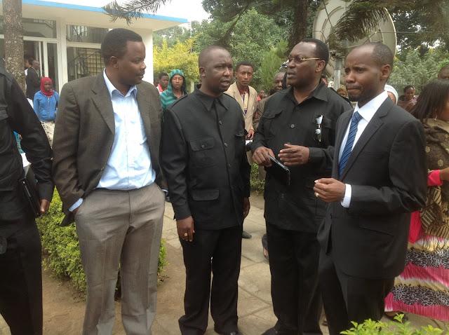 wa Arusha mjini, Godbless Lema wakitoka Polisi baada ya kuhojiwa