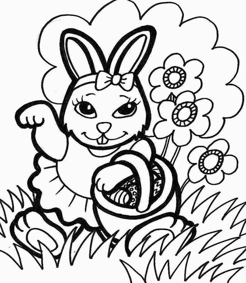 Easter bunny coloring pages free coloring sheet for Printable coloring pages easter