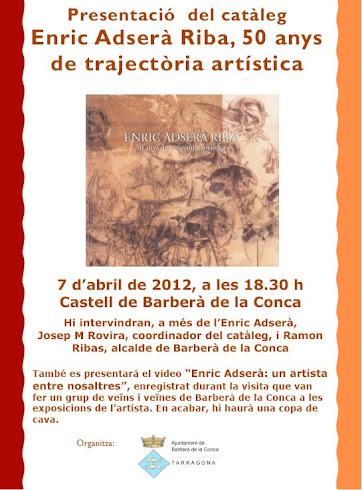 Presentació del llibre de l'Enric Adserà, Dissabte Sant al Castell de Barberà de la Conca.