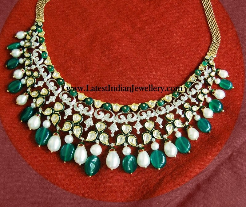 Diamond Kundan Fusion Bridal Necklace