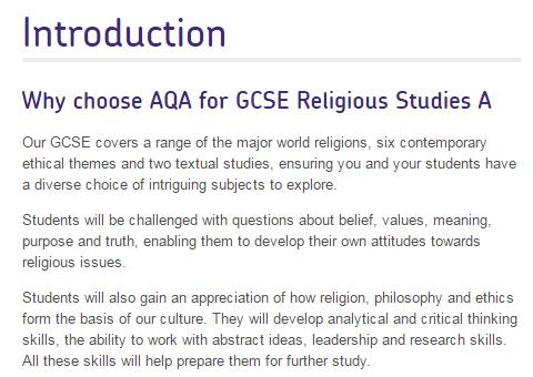 AQA RS GCSE