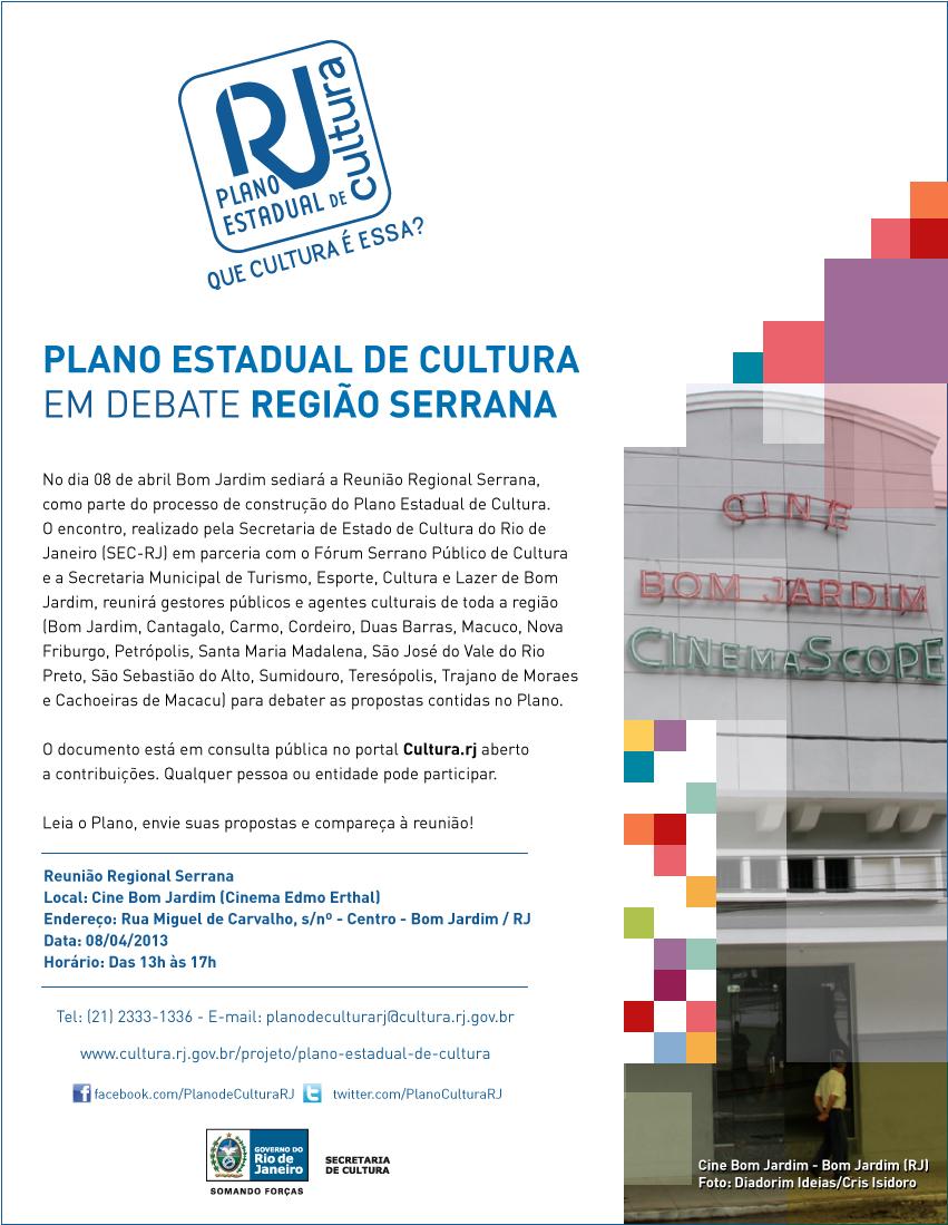 Plano Estadual de Cultura em debate na região serrana