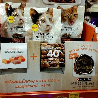 Display at PetSmart of Purina ProPlan Savor