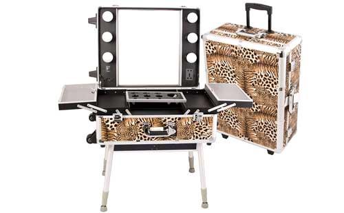 set maquillaje profesional leopardo