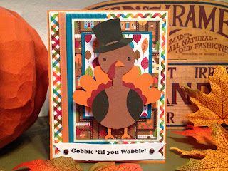Cricut, Create A Critter, Thanksgiving Card, Action Wobbles