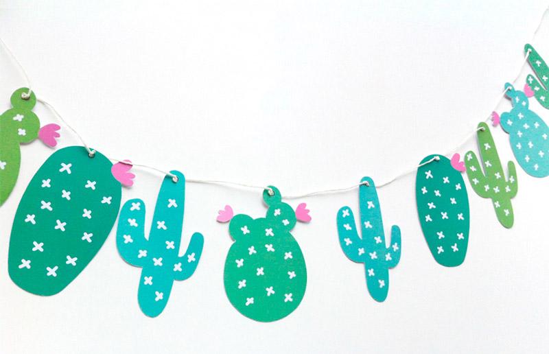 Guirlanda De Cactus Para Imprimir E Sair Pendurando Por A 237
