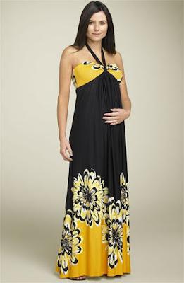 vestidos para gestantes com estampas