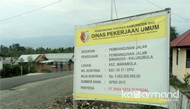 Papan project pembangunan jalan