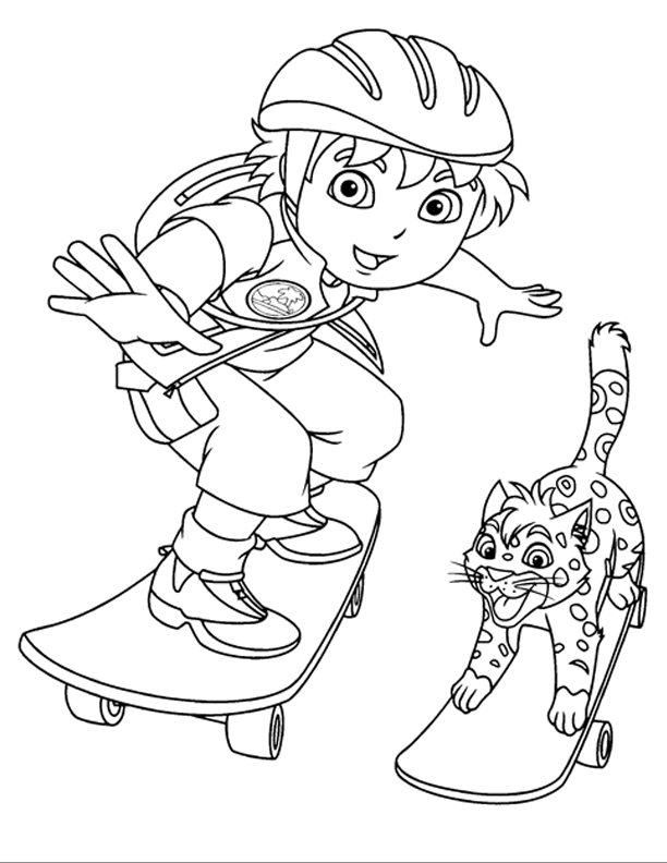 Images Kids Of Cartoon Coloring Pages: Go Diego Go Coloring ...