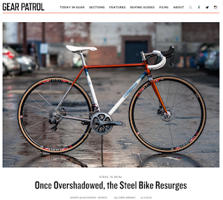 the bicycle pictured at the top of the article was built by chris bishop who is one of a new generation of very talented framebuilders working today