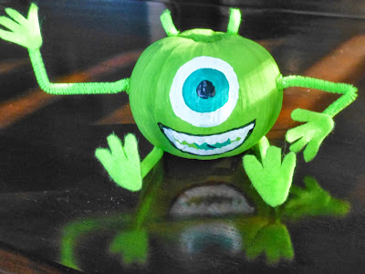Mike Wazowski, Monsters Inc, Halloween, Craft, DIY