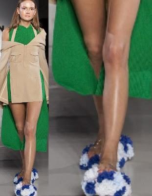 9 Weirdest Clothes at London Fashion Week: Bathroom Slippers