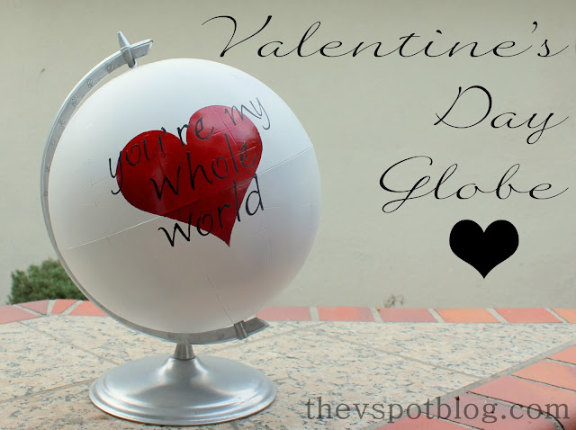 Valentine's day decor, Valentine's day globe with heart