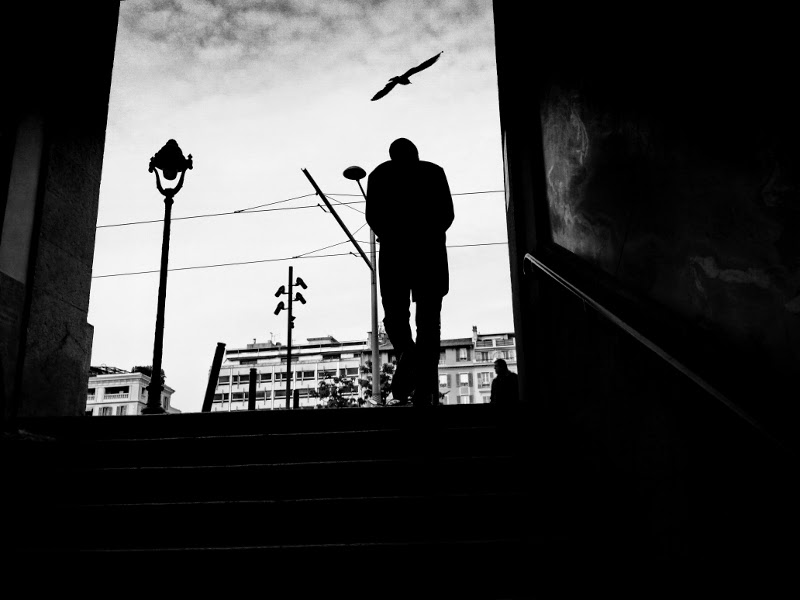 strreet photography noir et blanc