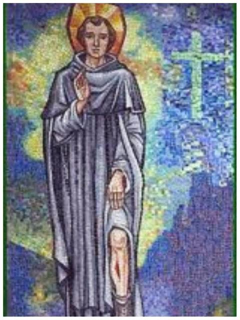 San Peregrino Mostrando Su Pierna Enferma