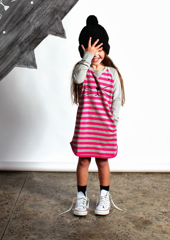 Minti sweatdress for atumn 2014 kidswear collection