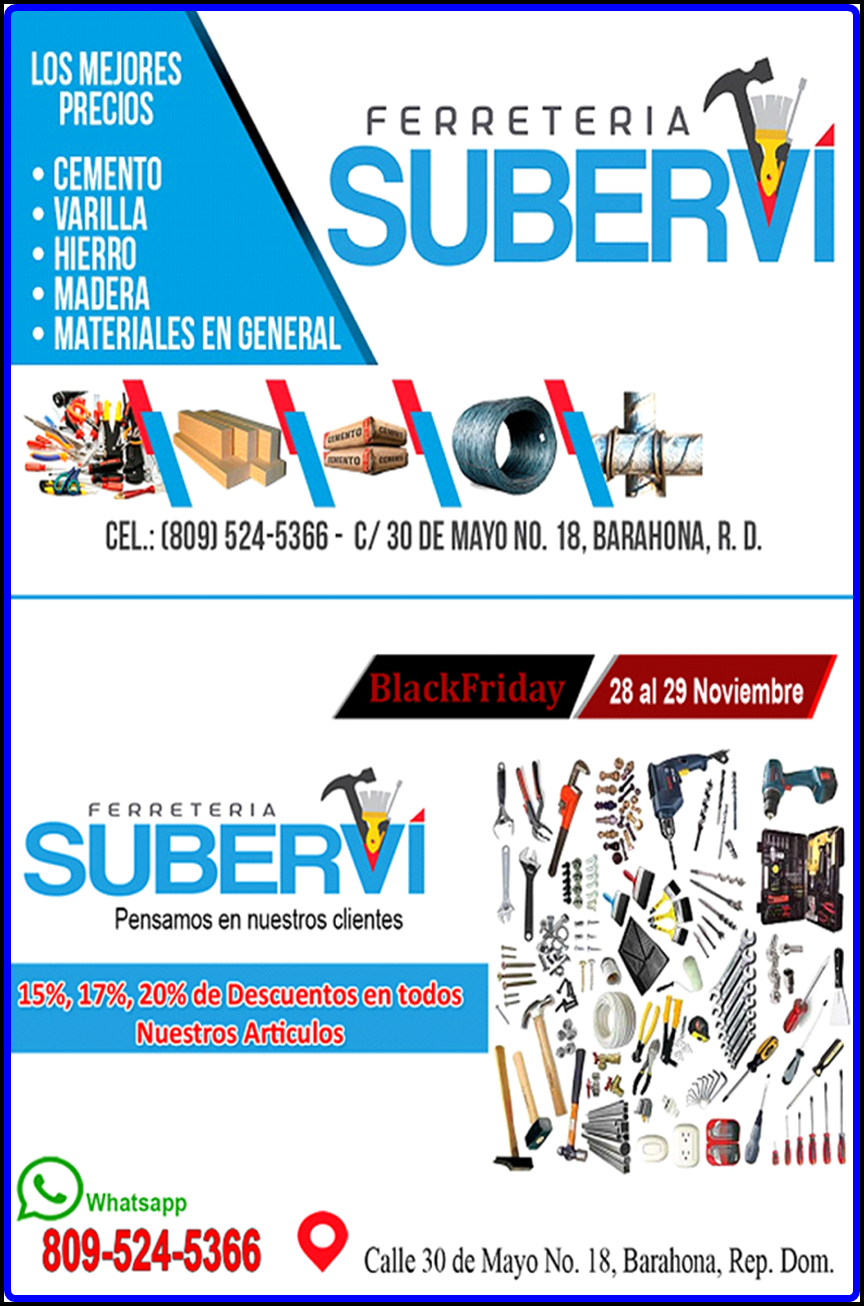 FERRETERÍA SUBERVÍ EN BLACK FRIDAY/DEL 23 AL 30 DE NOV