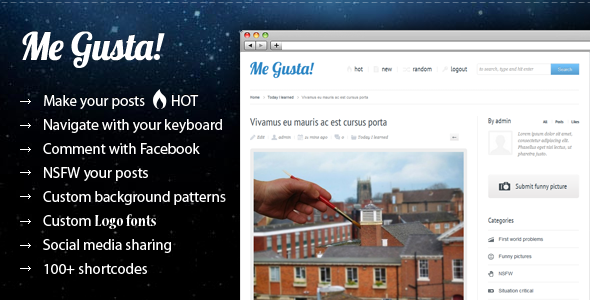 Me Gusta! v2.4 Themeforest User-driven Content Sharing Theme