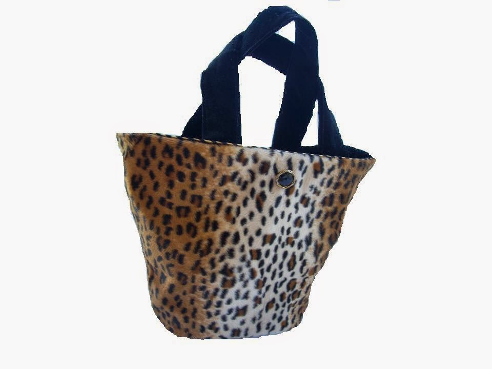 Cheetah Faux Fur Vase Handbag