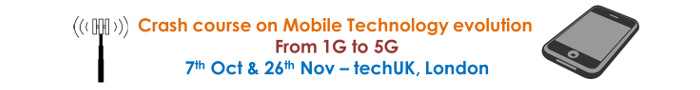 Crash course in Mobile technology from 1G to 5G