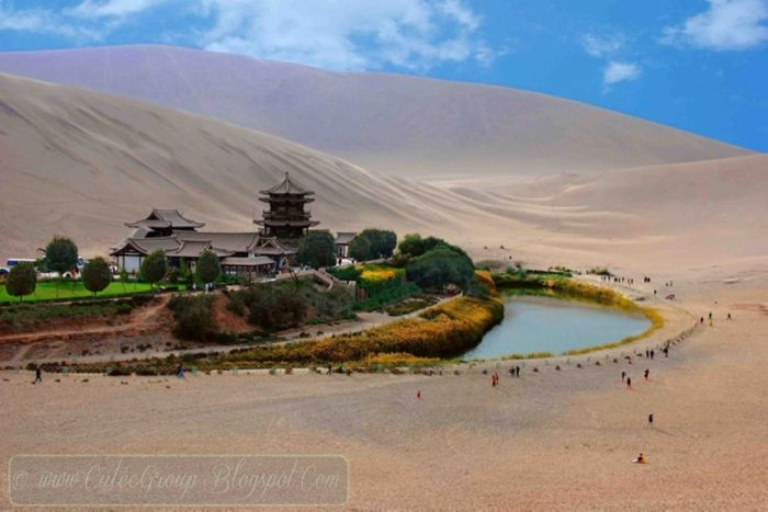 The Crescent Lake In Dunhuang, China