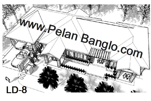 Pelan Rumah Banglo LD-8 (6 bilik) | Pelan Rumah Idaman Anda (Plan ...