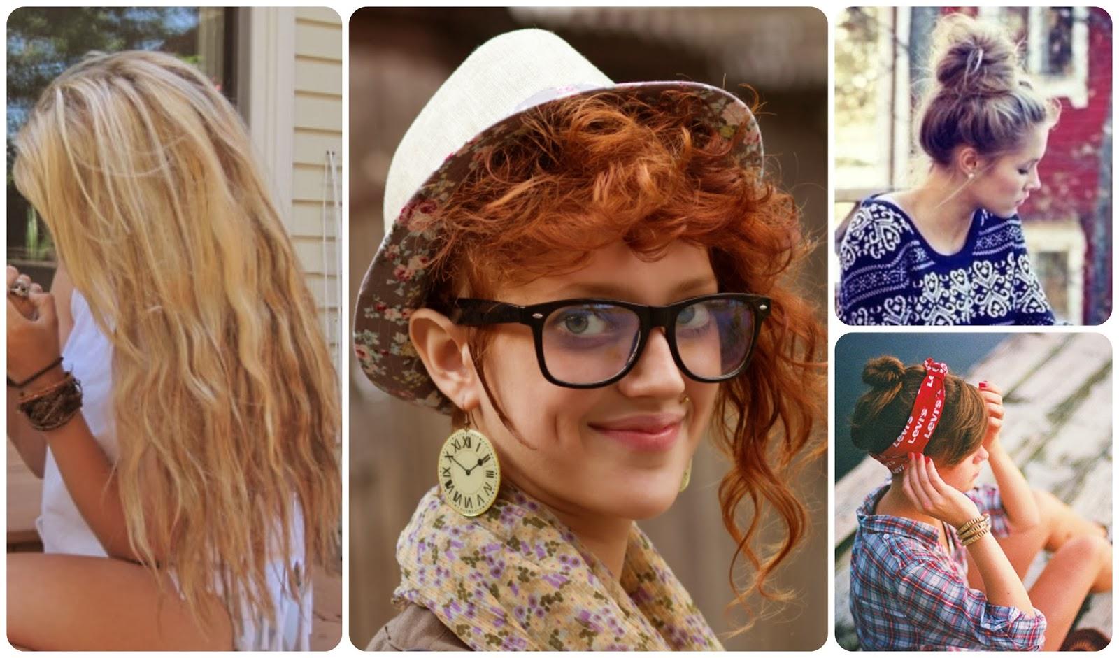 Hairstyle hipster girl - Peinados de la chica hisper. Melenas, moños, cortes asimétricos