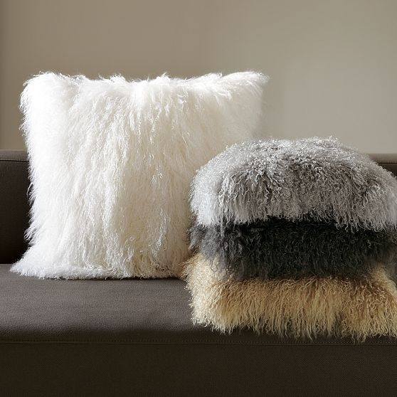 The Modern Sophisticate: Mongolian Wool Pillow