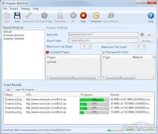 Inspyder Web2Disk لتحميل الموقع ومن ثم تصفحه بدون انترنت