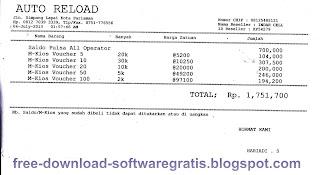 Download Aplikasi Cetak Nota Penjualan Mkios Dan Saldo