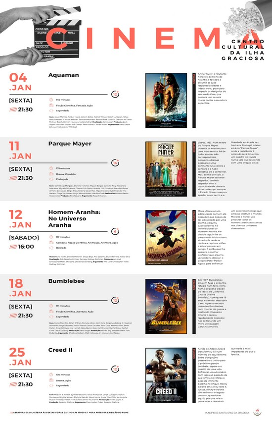 Cinema Janeiro 2019