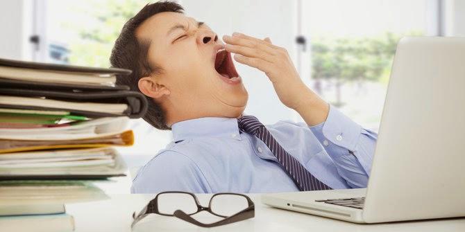 tips hilangkan mengantuk di pejabat