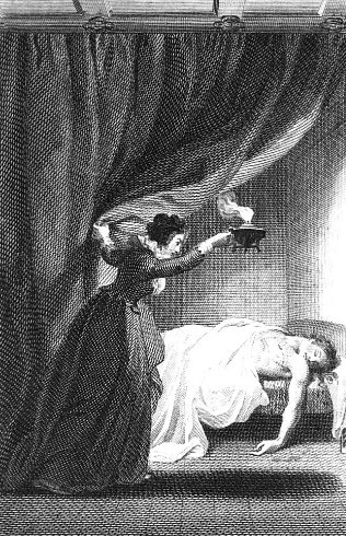 Illustration from The Mysteries of Udolpho  (1806 edition)