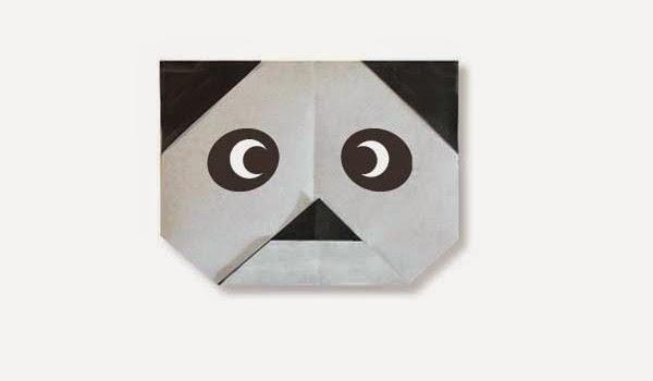 Hướng dẫn cách gấp giấy Mặt con Gấu Trúc Panda - Xếp hình Origami với Video clip