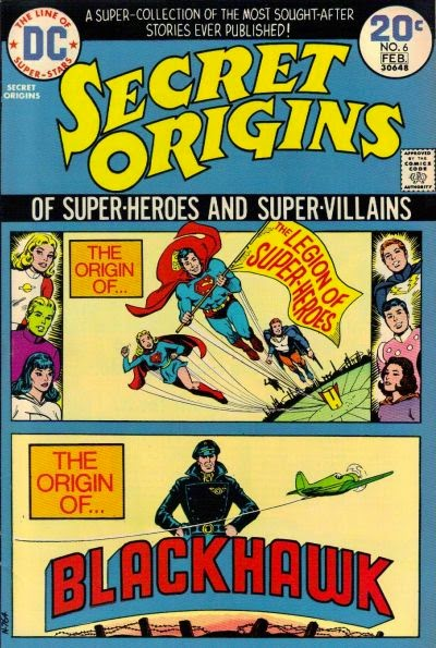 Secret Origins #6, Legion of Super-Heroes, Blackhawk