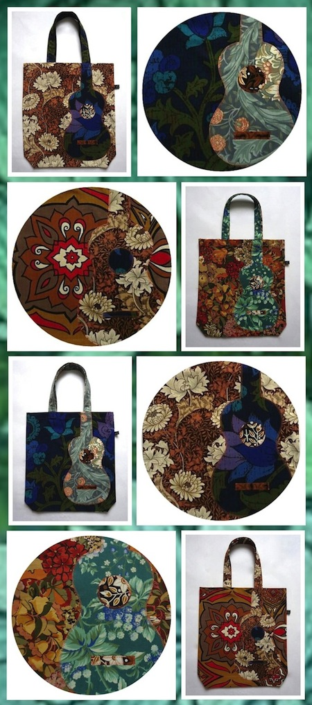 Ivy Arch applique bags