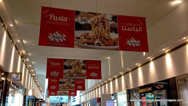 TGIFridays banners in Dubai Festival City