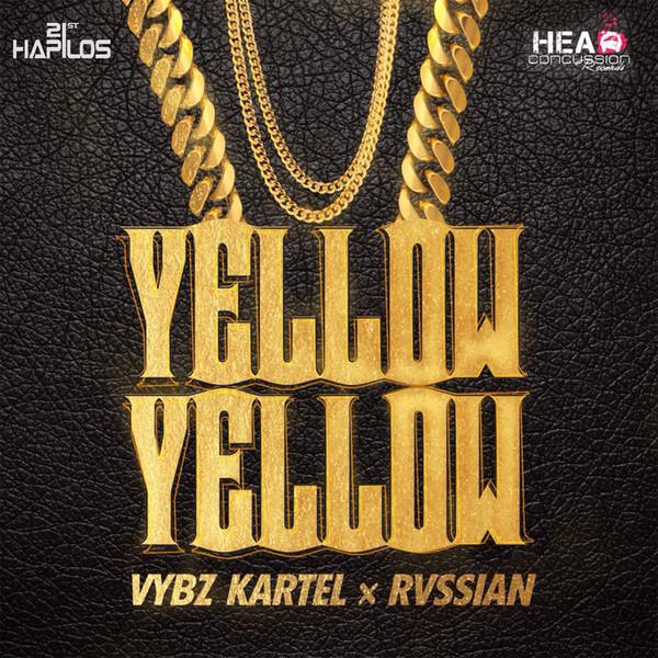 Vybz Kartel & Rvssian - Yellow Yellow - Single Cover