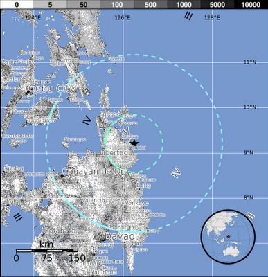 sismo de 6,0 grados sacude la isla Mindanao, en Filipinas, el 09 de Diciembre de 2012