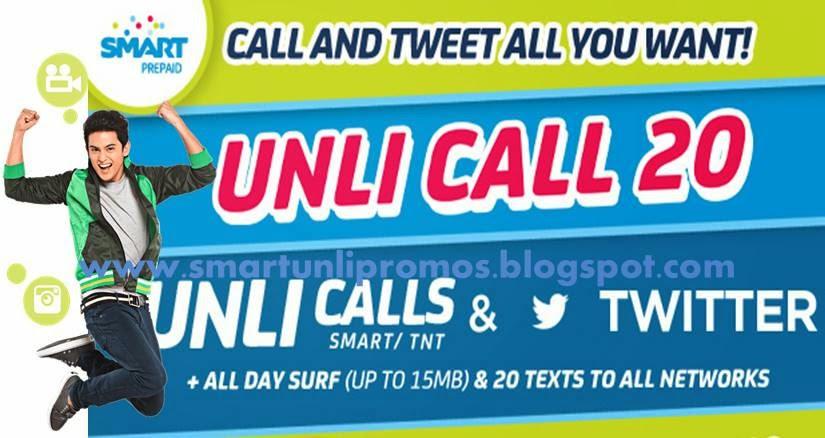 Smart Unli Call 2015 Promo: UNLICALL20