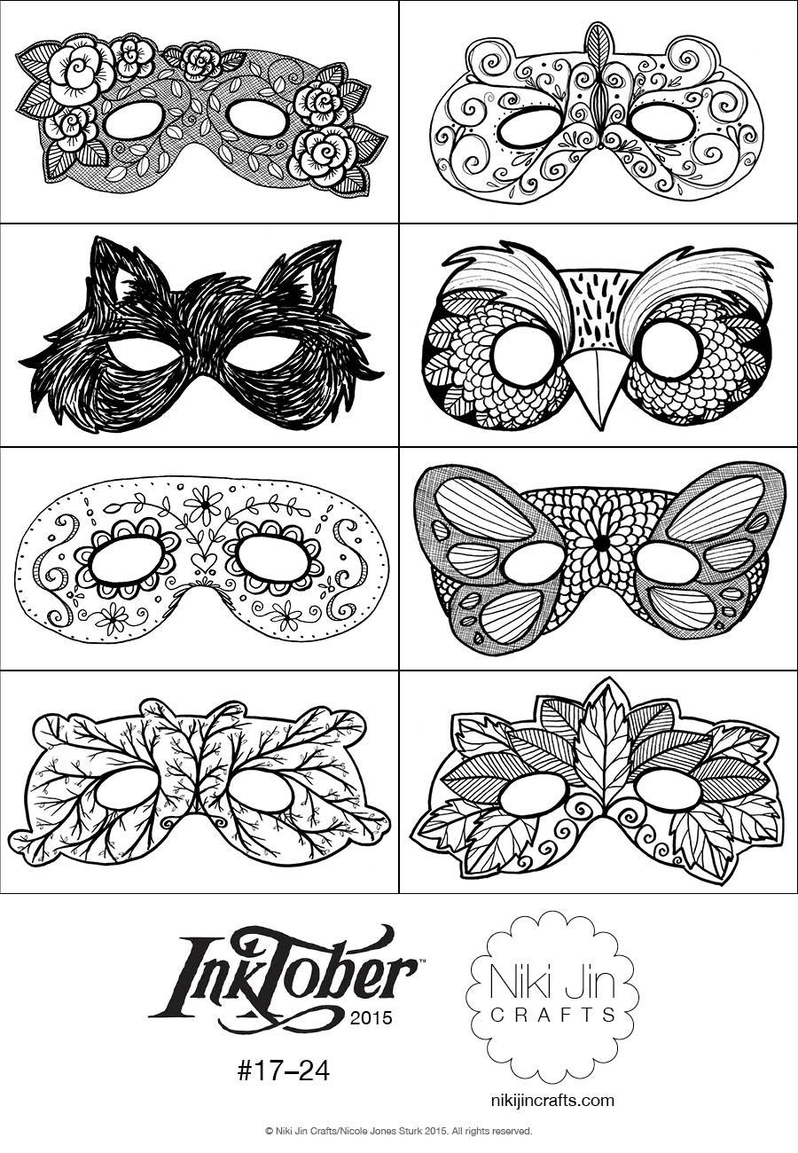Niki Jin Crafts: Halloween Fun and InkTober Mask Craft