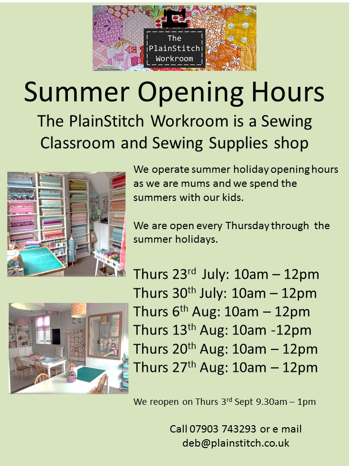 Summer Opening Hours 2015